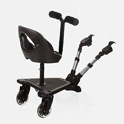 Be Cool Skate 502 - Patinete universal para coche de paseo, Negro