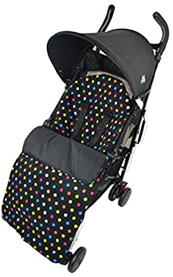 Forro polar saco/Cosy Toes Compatible con Graco Stadium Duo Quattro Evo mosaico Multi Color Dots